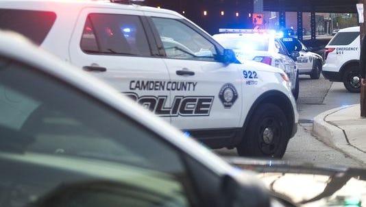 Police found a man with a gunshot wound on a Camden street.