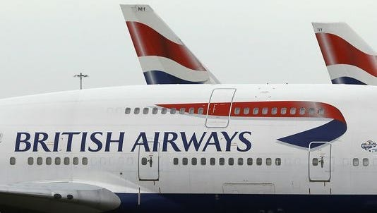 File photo of British Airways planes at Heathrow Airport.