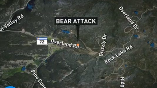 A bear reportedly attacked a teenager in Boulder County on Sunday.