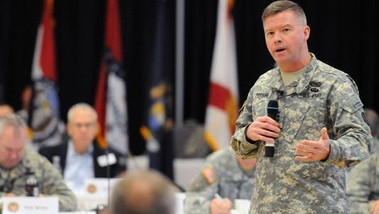 Army Gen. David Perkins, seen in a file photo, will speak at a breakfast event in El Paso on Wednesday.