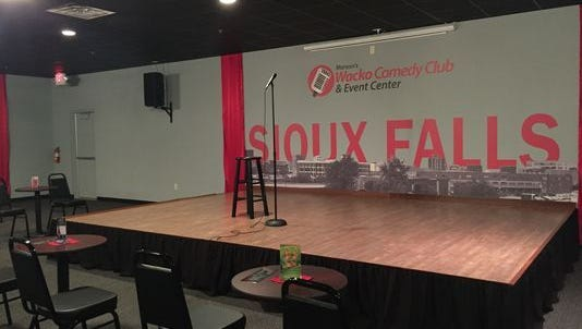 The stage at Wacko's Comedy Club.