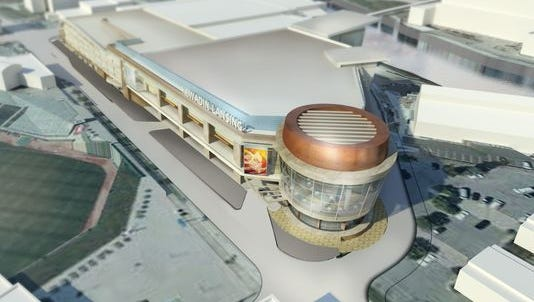 An artist's rendering of the proposed Kewadin Lansing Casino that the Sault Ste. Marie Tribe of Chippewa Indians is fighting the federal government for the chance to build.