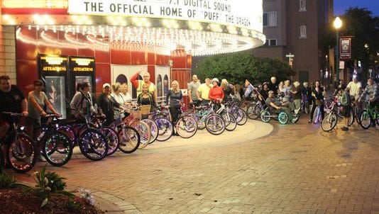 The Wayne Bike Club meets up for weekly rides through the city.