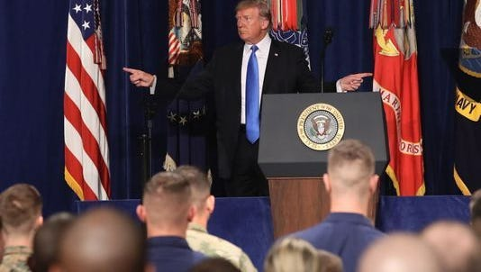 President Trump addresses nation about sending more troops into Afghanistan.