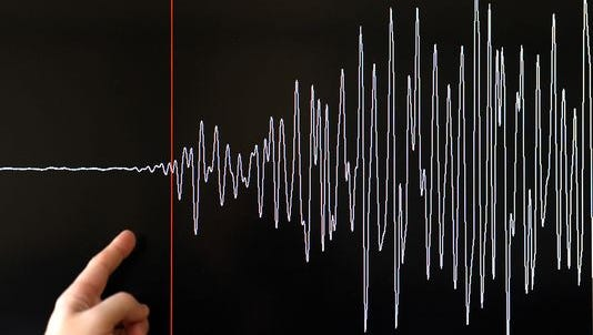 A small earthquake shook parts of the desert at 4:23 p.m. on Thursday afternoon.