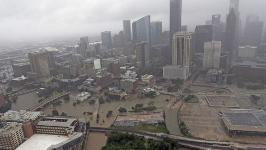 Former Hurricane Harvey has brought massive floods to Houston and Texas' Gulf Coast region.