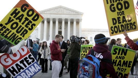 Westboro Baptist Church members are scheduled to hold three protests Wednesday in Greater Cincinnati.