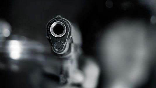 Semi-automatic handgun.