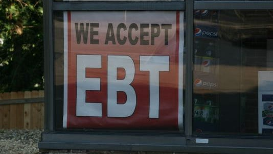 """""""We accept EBT"""" sign in Chesterfield."""
