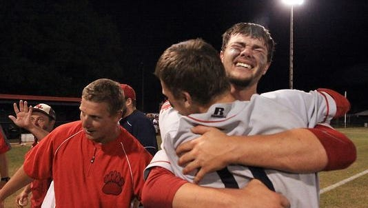 BHP's Blake Holliday and Dylan Spence after winning the 2015 Class AAA state championship in Hartsville.
