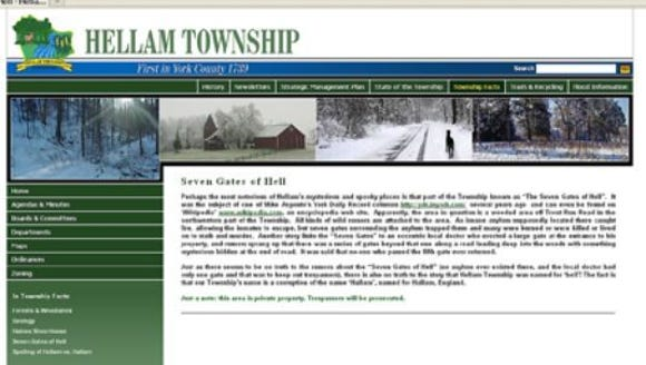 Hellam Township's webpage tells about the Seven Gates of Hell. You can check out the website at: http://bit.ly/2hXjOmC.