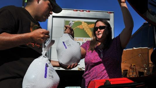 Treasure Coast Food Bank will be distributing turkeys to about 100 nonprofit agencies in Martin, St. Lucie and Indian River counties for Thanksgiving. The food bank is having a turkey drop-off on Saturday in various locations to accept donations of turkeys from the public.
