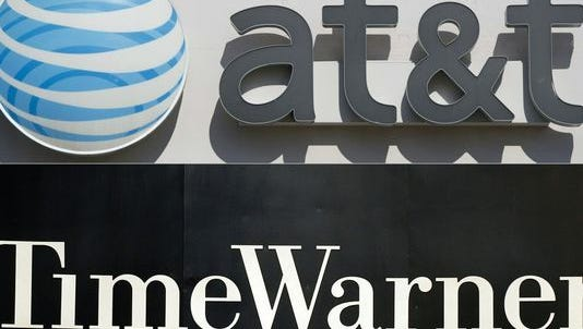AT&T and Time Warner logos.