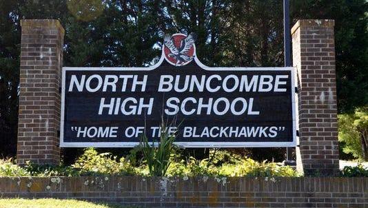 North Buncombe High School sign.