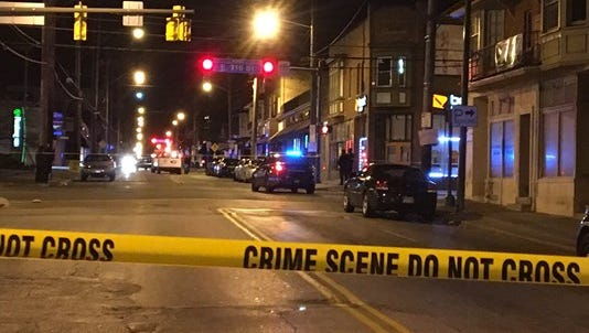 Six boys were shot on a Cleveland street Friday night.