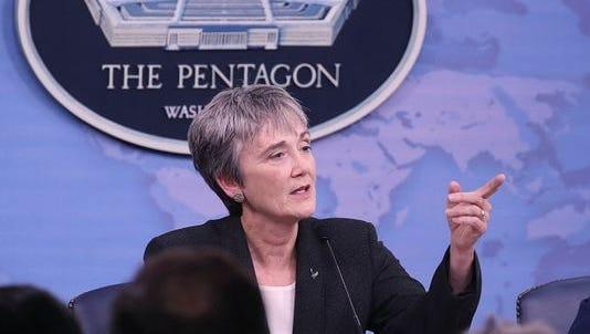 Air Force Secretary Heather Wilson discusses shooter Devin Kelley on Nov. 9.