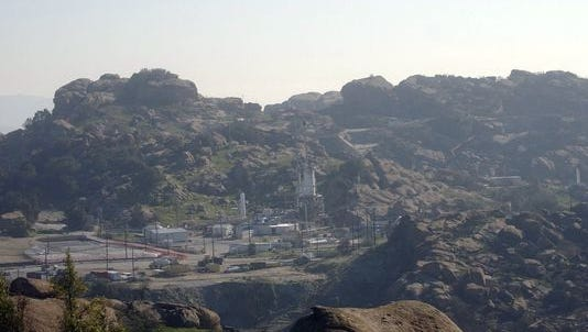 The former Santa Susana Field Lab in the hills outside Simi Valley.