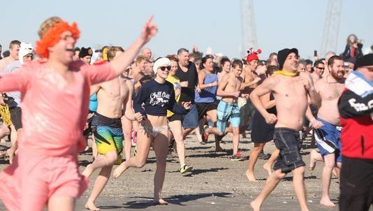 The Polar Bear Plunges scheduled for New Year's Day in Ventnor and Ocean  City has been canceled.
