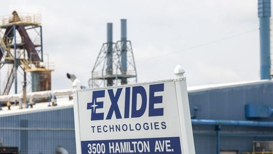 The Exide Technologies plant in Muncie recycles spent lead-acid batteries and other lead-bearing material.