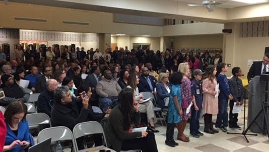 It was standing room only at the Forest Hills school board meeting Monday night.