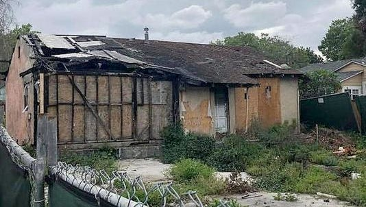 A house that suffered fire damage two years ago is on the market for $800,000 in San Jose, Calif.
