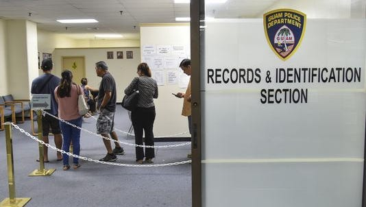 The Guam Police Department Records and ID Section in the ITC Building in Tamuning is shown in this file photo.