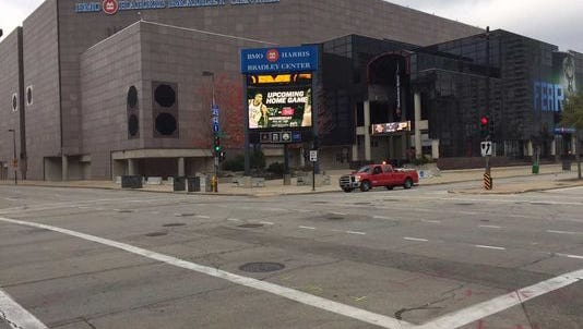 The planned conversion of State Street's remaining one-way stretch to two-way traffic will improve development prospects for the BMO Harris Bradley Center site.