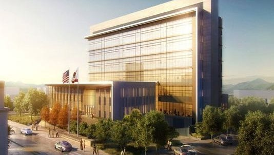 The new Shasta County Courthouse is expected to be completed in June 2021.
