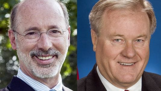 Gov. Tom Wolf, a Democrat, will face former state Sen. Scott Wagner, a Republican, in the fall election.