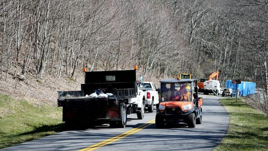 Some commercial vehicles are allowed on the Blue Ridge Parkway to conduct official business or bring in supplies.