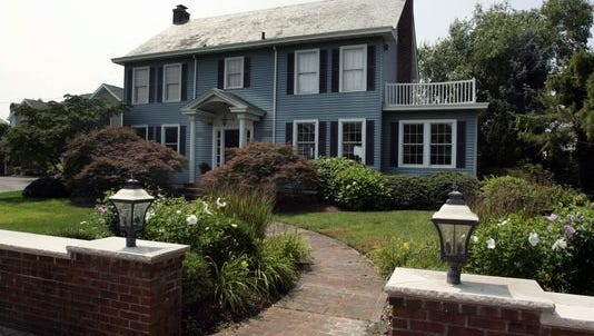 The house at 18 Brooks Road in Toms River that was used in the film Amityville Horror in the late 1970s and in subsequent sequels in the 1980s.