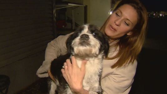 A Fort Collins woman was reunited with her dog Tuesday after her car, along with Rosie the dog, were stolen nearly two weeks ago.