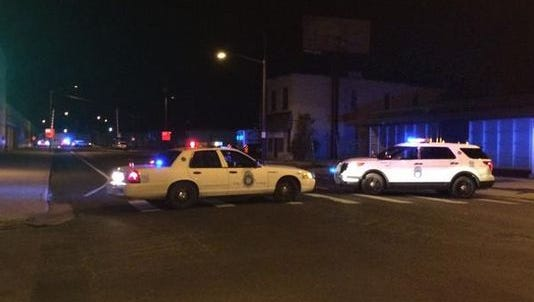 Denver police say a cyclist was hit by a train Tuesday.