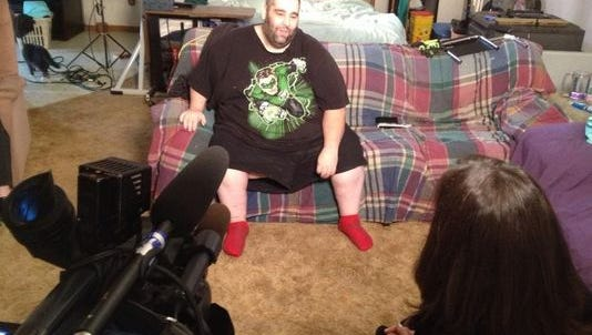 Scrotum surgery patient Dan Maurer talks of how he can have a normal life again.