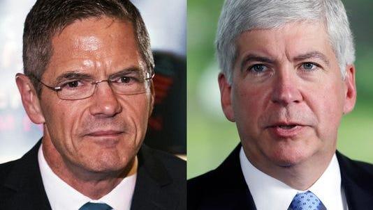Snyder has CEO experience; Schauer has legislative experience.