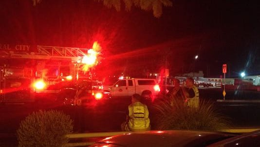 Emergency crews responded to two collisions involving pedestrians on Ramon Road in Cathedral City on Oct. 22. One of them involved an ambulance.