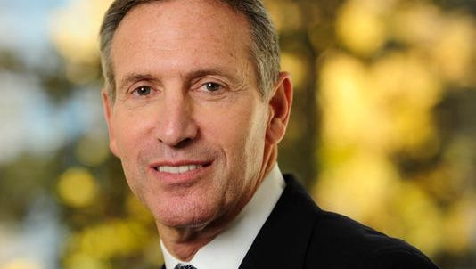 Howard Schultz, Starbucks CEO, is interviewed by USA TODAY Washington Bureau Chief Susan Page on his work for veterans and the Veterans Day concert on the Mall