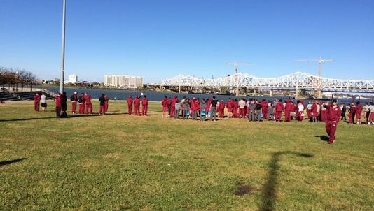 At, Florida State's walkthrough practice at Waterfront Park no pictures were allowed, even though it's a public place.
