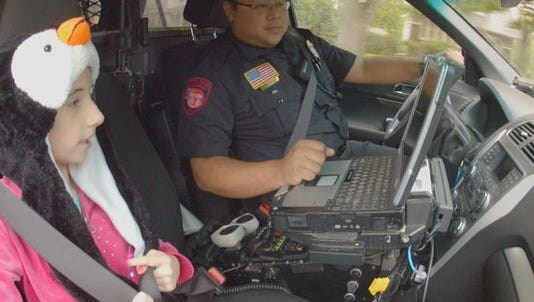 Cancer patient cop for a day
