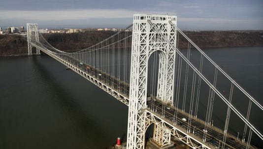 A view of the the George Washington Bridge, which is at the center of a legislative investigation into whether New Jersey Gov. Christie Christie had advance knowledge of politically motivated September 2013 bridge lane closures.