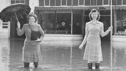 Historical flood photograph