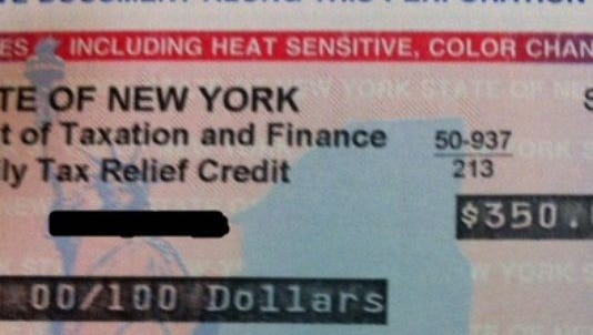 New York's mailed out Family Tax Relief Credit checks.(Photo: Nancy Cutler/The Journal News)