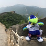 Photos: See York Revolution mascot's journey across China