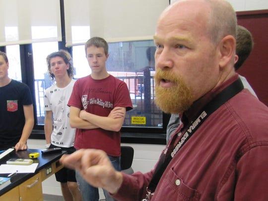Elmira High School physics teacher Charlie Wilson