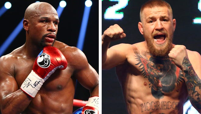 Floyd Mayweather, left, and Conor McGregor, right, could fight in the near future.