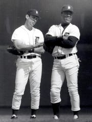 Alan Trammell and Lou Whitaker in 1992.