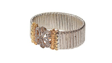 Vahan diamond, silver and yellow gold bracelet, $6,875 at Bere' Jewelers.
