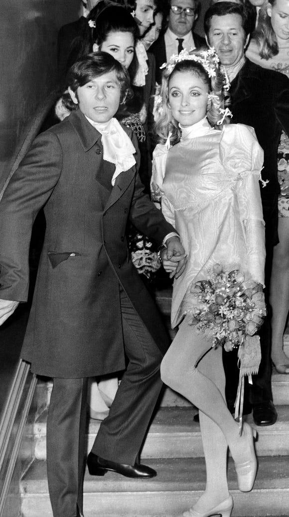 Roman Polanski and Sharon Tate on their wedding day