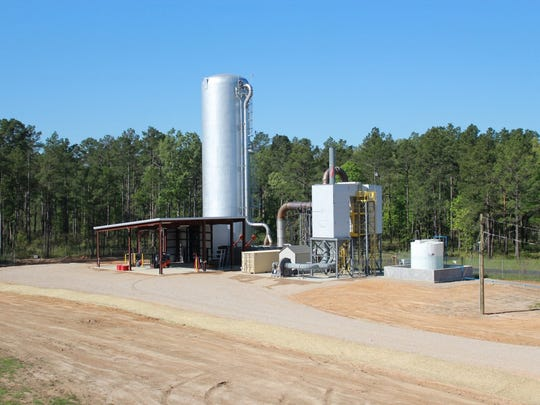 The contained burn chamber facility at Camp Minden