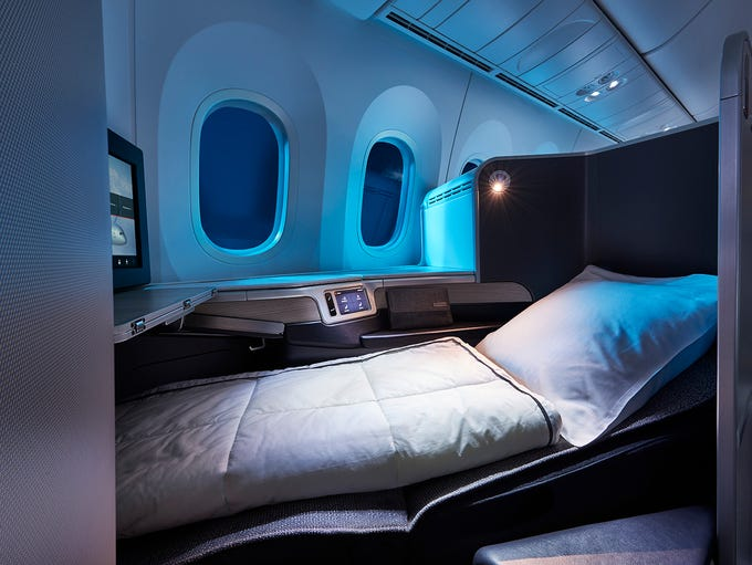 Air Canada's new international business class cabin